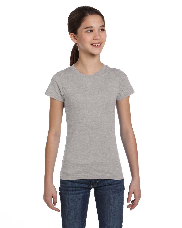 LAT Girls' Fine Jersey T-Shirt HEATHER