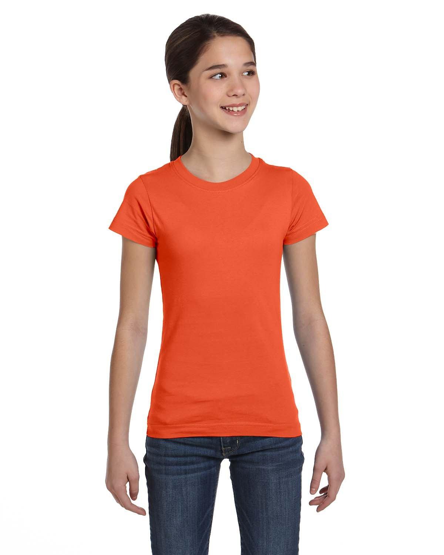 LAT Girls' Fine Jersey T-Shirt ORANGE