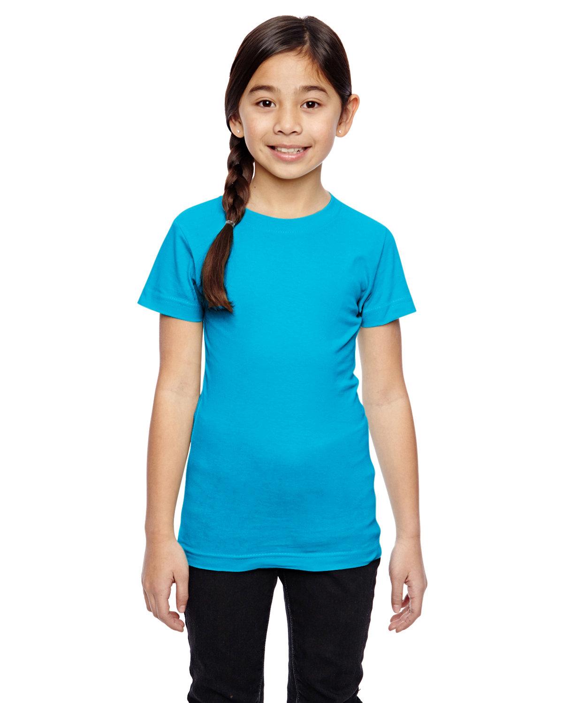 LAT Girls' Fine Jersey T-Shirt TURQUOISE