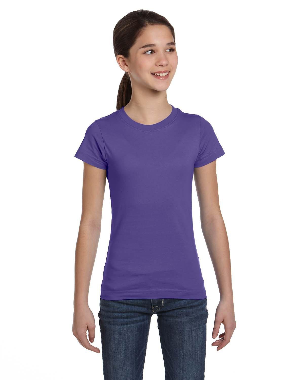 LAT Girls' Fine Jersey T-Shirt PURPLE