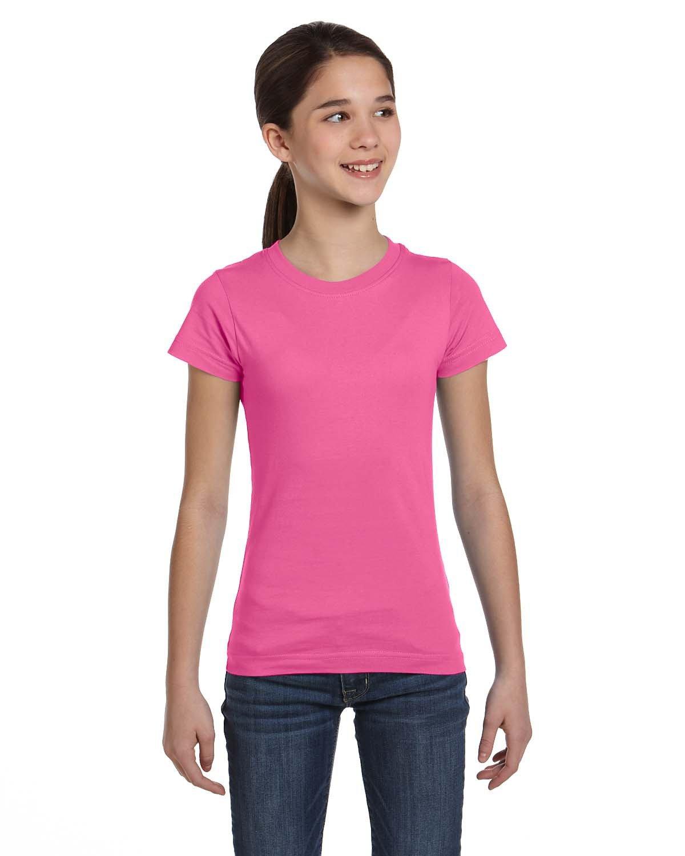 LAT Girls' Fine Jersey T-Shirt RASPBERRY