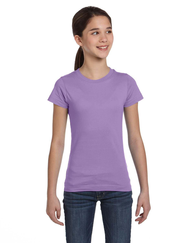 LAT Girls' Fine Jersey T-Shirt LAVENDER