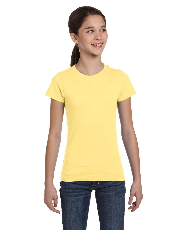LAT Girls' Fine Jersey T-Shirt BUTTER