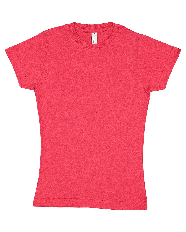 LAT Girls' Fine Jersey T-Shirt VINTAGE RED