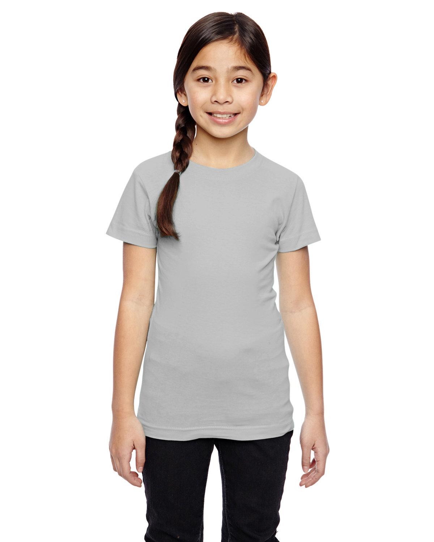 LAT Girls' Fine Jersey T-Shirt TITANIUM