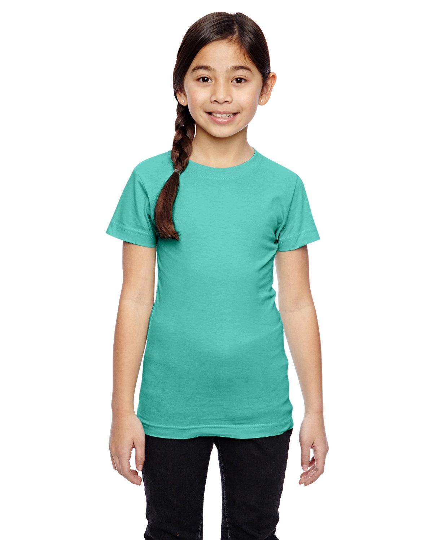 LAT Girls' Fine Jersey T-Shirt CARIBBEAN