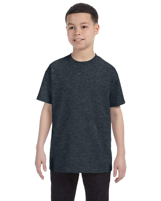 Jerzees Youth DRI-POWER® ACTIVE T-Shirt BLACK HEATHER