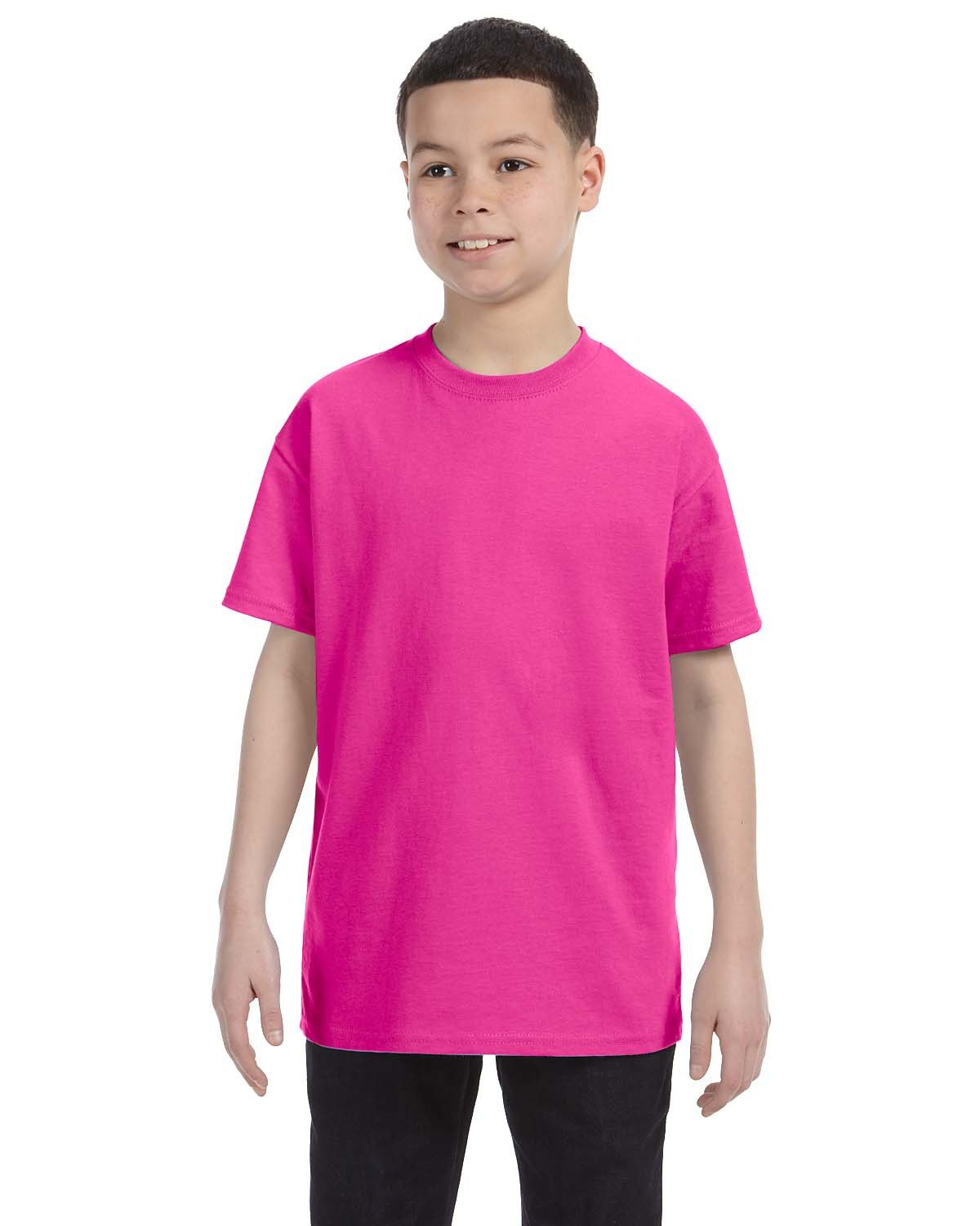 Jerzees Youth DRI-POWER® ACTIVE T-Shirt CYBER PINK