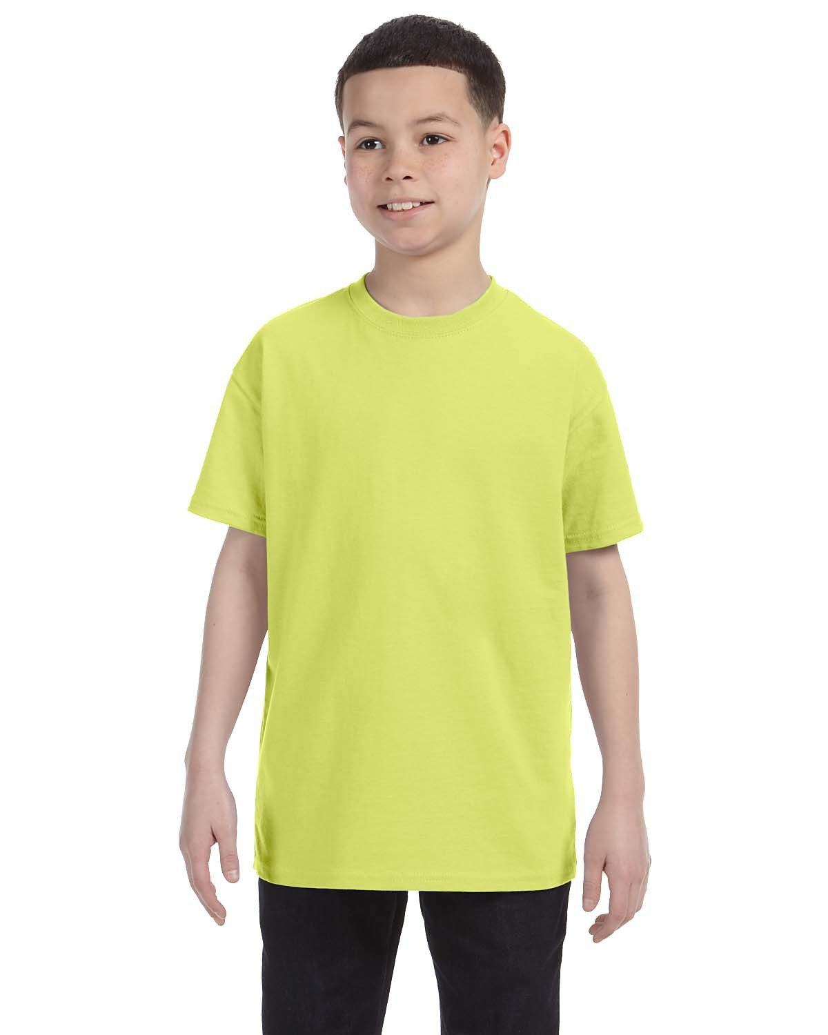 Jerzees Youth DRI-POWER® ACTIVE T-Shirt SAFETY GREEN