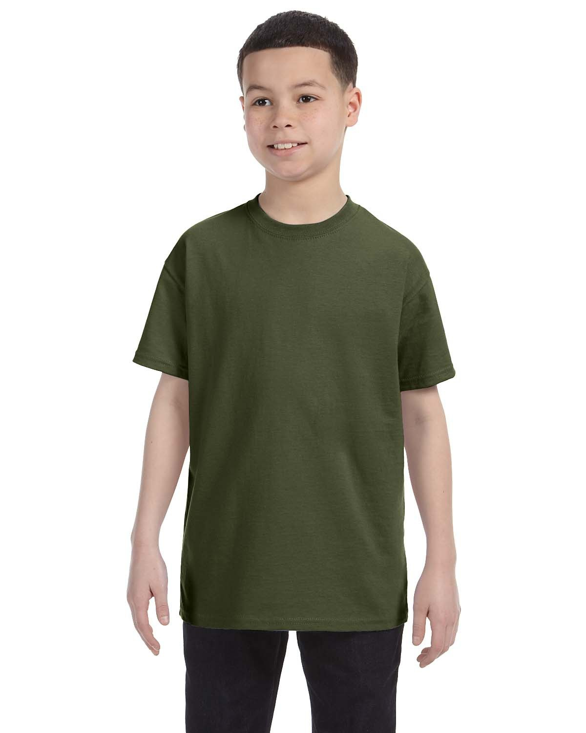 Jerzees Youth DRI-POWER® ACTIVE T-Shirt MILITARY GREEN