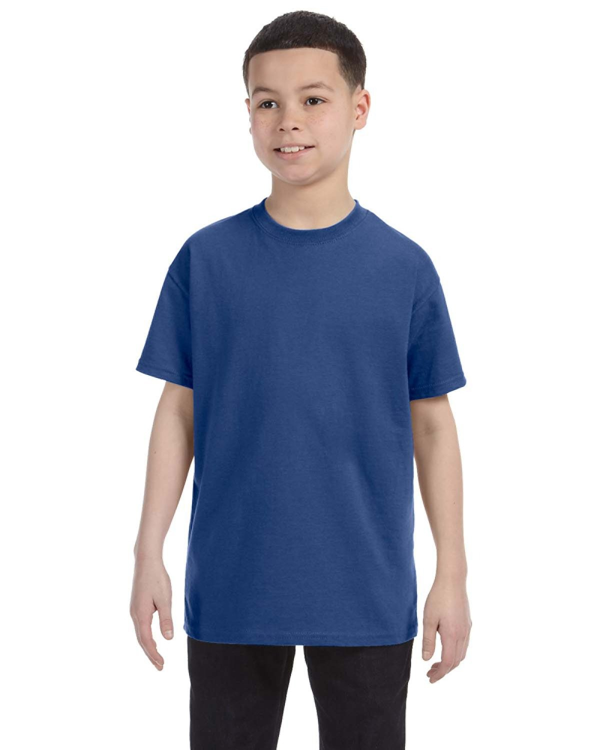 Jerzees Youth DRI-POWER® ACTIVE T-Shirt VINTAGE HTH BLUE