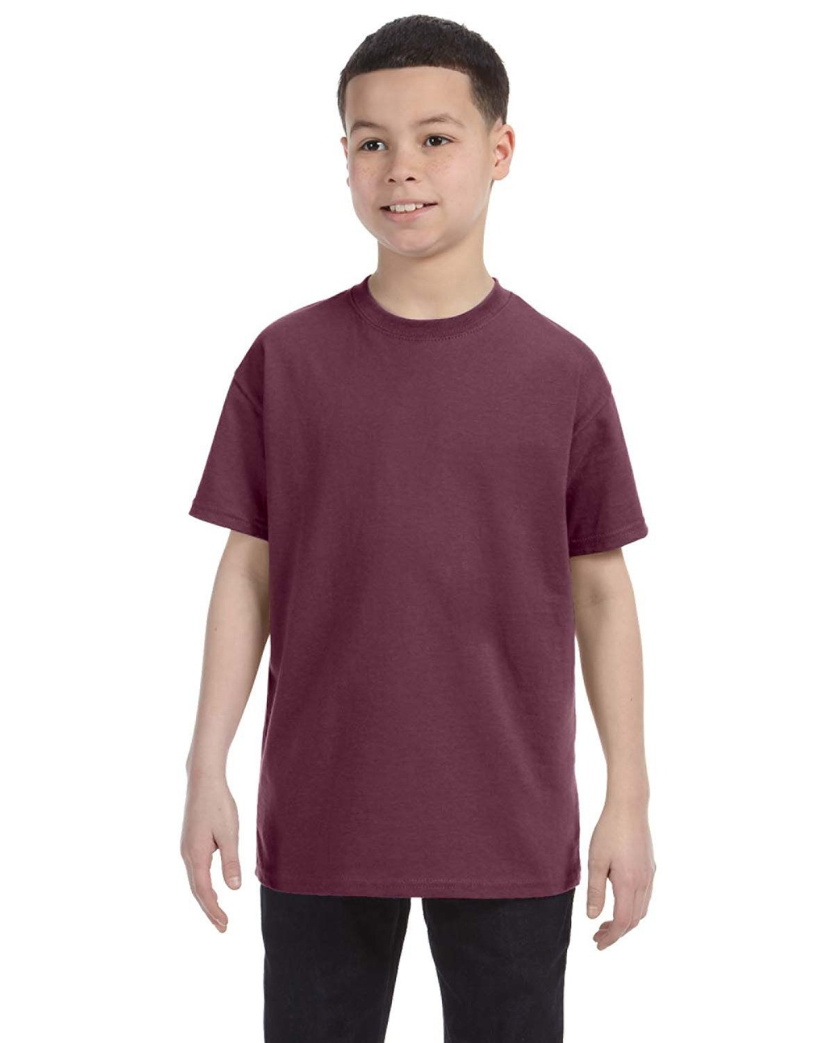 Jerzees Youth DRI-POWER® ACTIVE T-Shirt VINT HTH MAROON