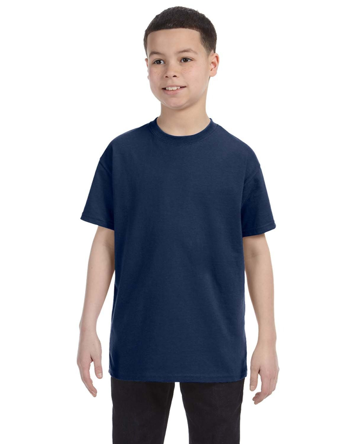 Jerzees Youth DRI-POWER® ACTIVE T-Shirt VINTAGE HTH NAVY