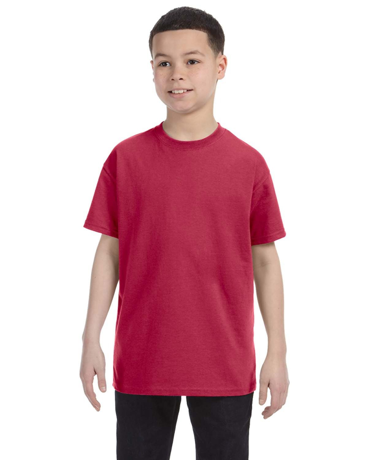 Jerzees Youth DRI-POWER® ACTIVE T-Shirt VINTAGE HTH RED
