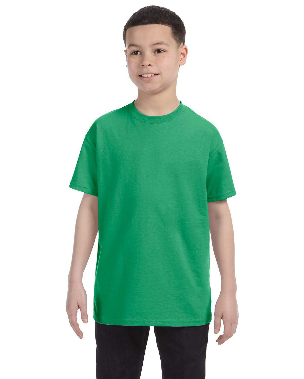Jerzees Youth DRI-POWER® ACTIVE T-Shirt IRISH GREEN HTHR