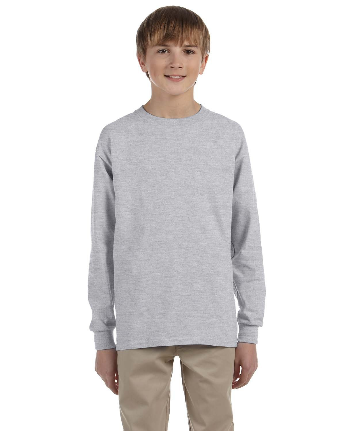 Jerzees Youth DRI-POWER® ACTIVE Long-Sleeve T-Shirt OXFORD