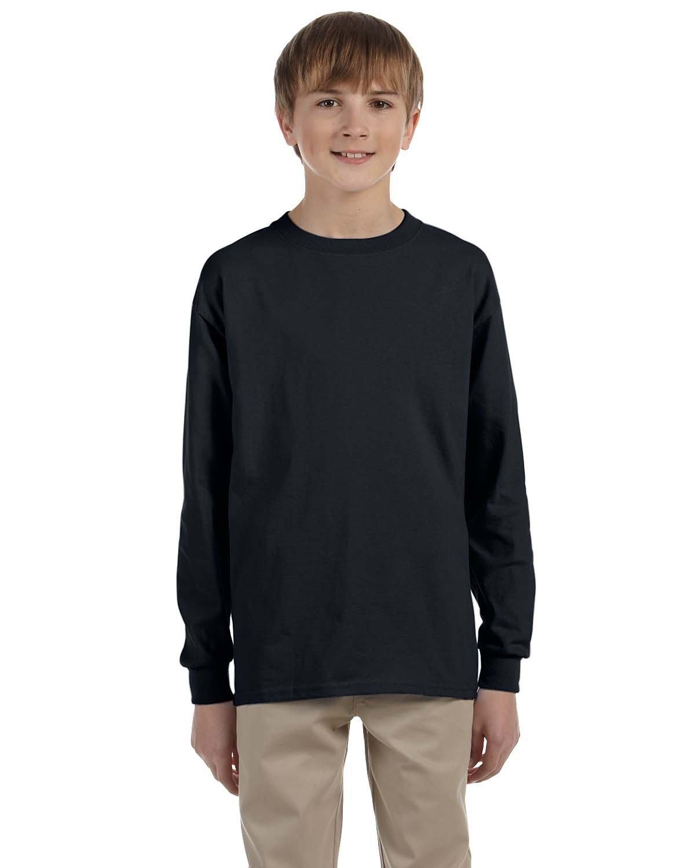 Jerzees Youth DRI-POWER® ACTIVE Long-Sleeve T-Shirt BLACK