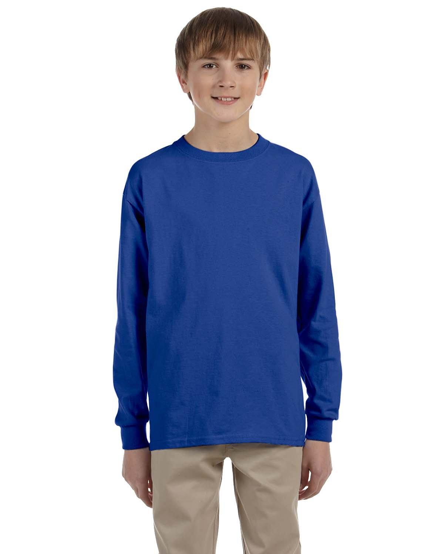 Jerzees Youth DRI-POWER® ACTIVE Long-Sleeve T-Shirt ROYAL