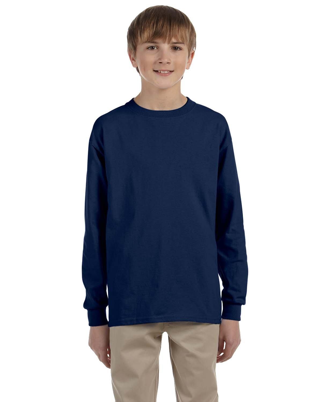 Jerzees Youth DRI-POWER® ACTIVE Long-Sleeve T-Shirt J NAVY