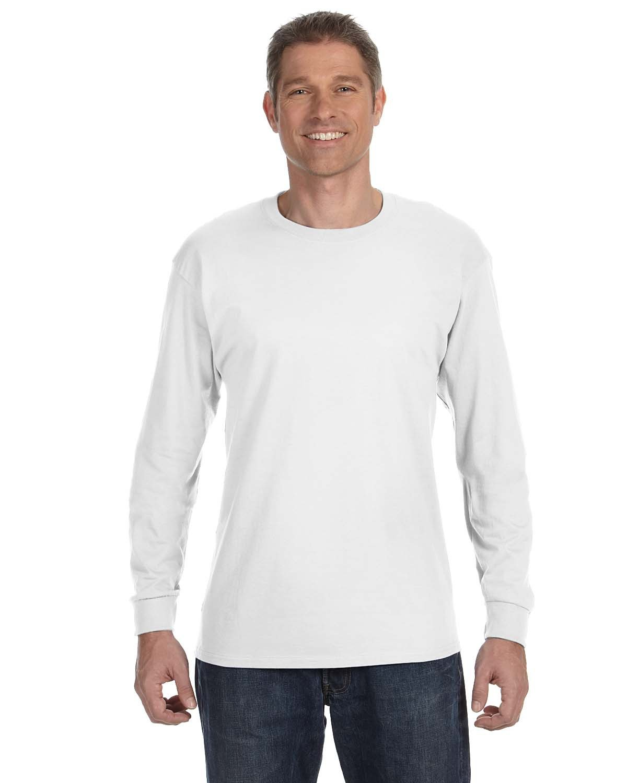 Jerzees Adult DRI-POWER® ACTIVE Long-Sleeve T-Shirt WHITE