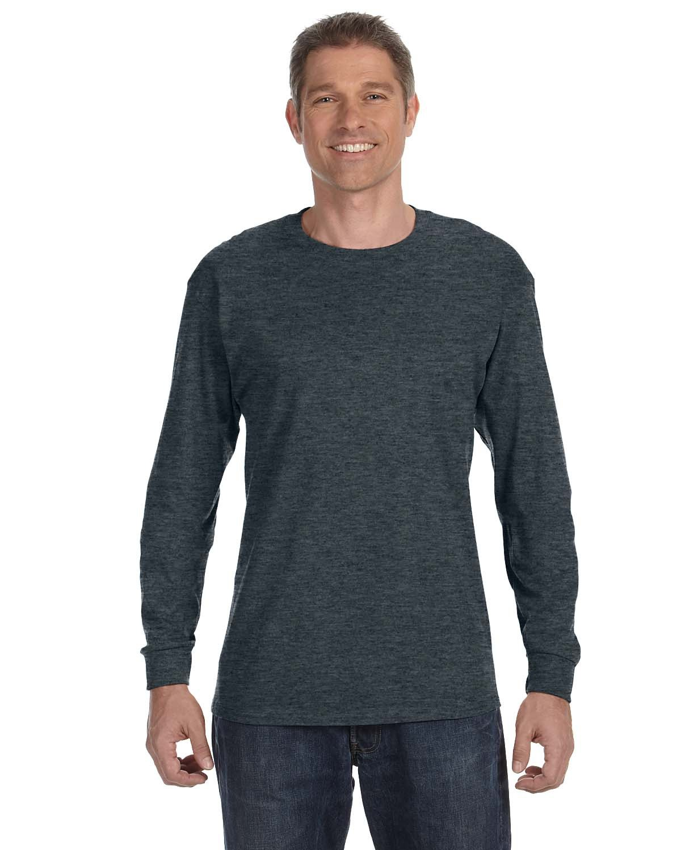 Jerzees Adult DRI-POWER® ACTIVE Long-Sleeve T-Shirt BLACK HEATHER