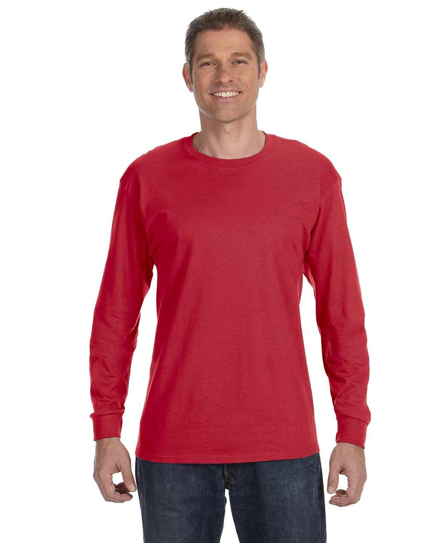 Jerzees Adult DRI-POWER® ACTIVE Long-Sleeve T-Shirt TRUE RED