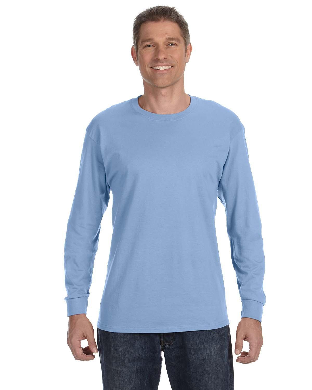 Jerzees Adult DRI-POWER® ACTIVE Long-Sleeve T-Shirt LIGHT BLUE