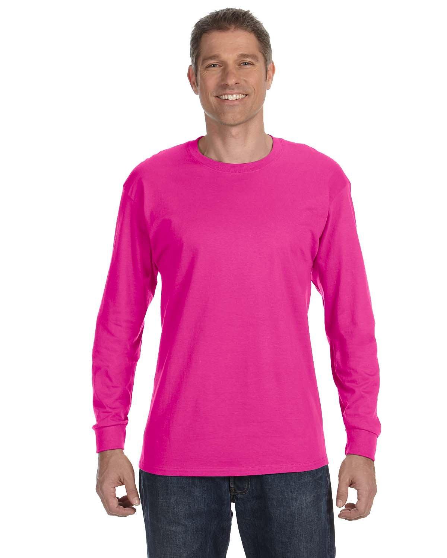 Jerzees Adult DRI-POWER® ACTIVE Long-Sleeve T-Shirt CYBER PINK