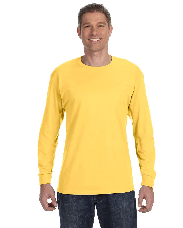 Jerzees Adult DRI-POWER® ACTIVE Long-Sleeve T-Shirt ISLAND YELLOW