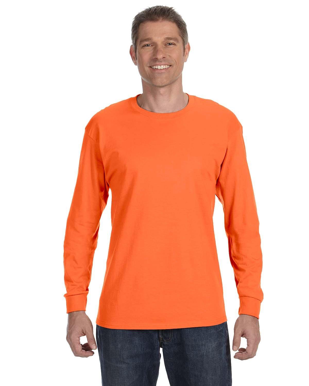 Jerzees Adult DRI-POWER® ACTIVE Long-Sleeve T-Shirt SAFETY ORANGE