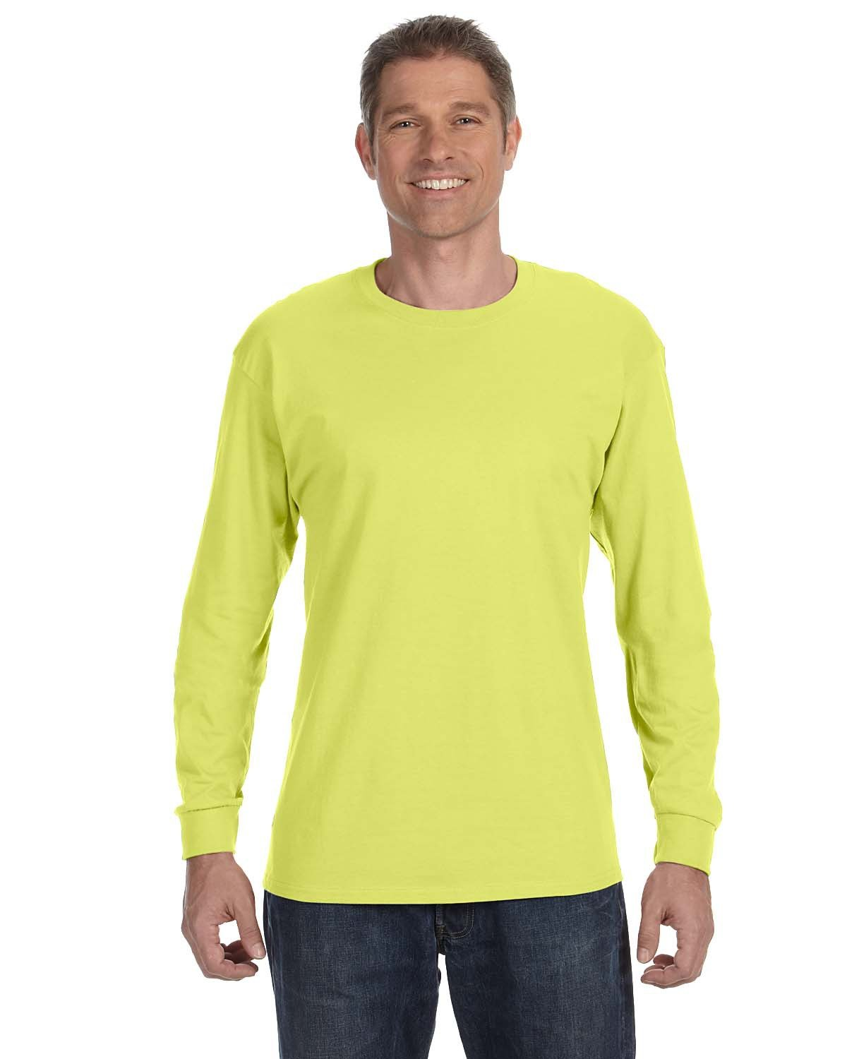 Jerzees Adult DRI-POWER® ACTIVE Long-Sleeve T-Shirt SAFETY GREEN