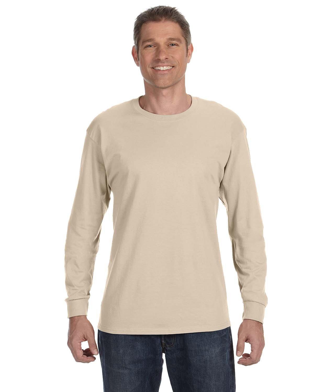 Jerzees Adult DRI-POWER® ACTIVE Long-Sleeve T-Shirt SANDSTONE