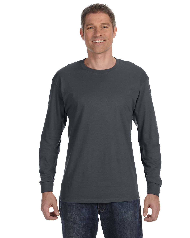 Jerzees Adult DRI-POWER® ACTIVE Long-Sleeve T-Shirt CHARCOAL GREY