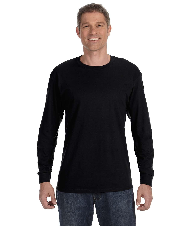 Jerzees Adult DRI-POWER® ACTIVE Long-Sleeve T-Shirt BLACK