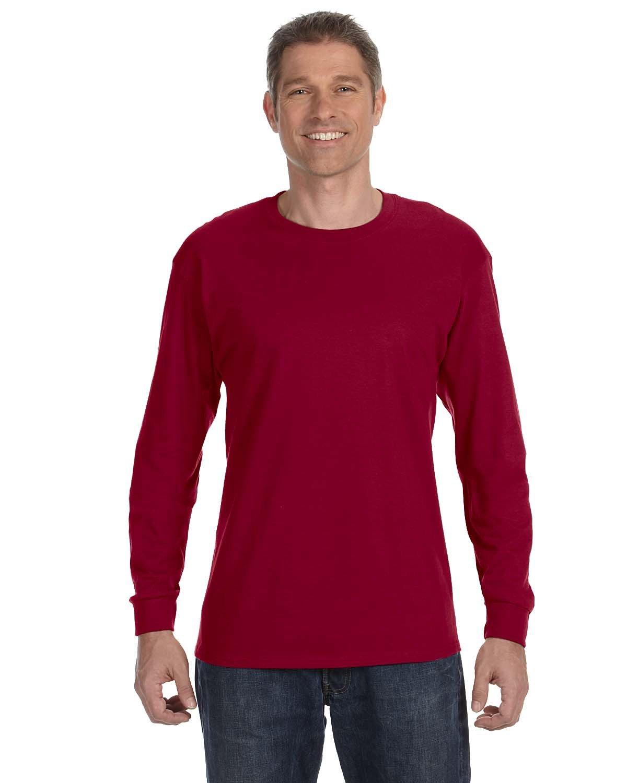 Jerzees Adult DRI-POWER® ACTIVE Long-Sleeve T-Shirt CARDINAL