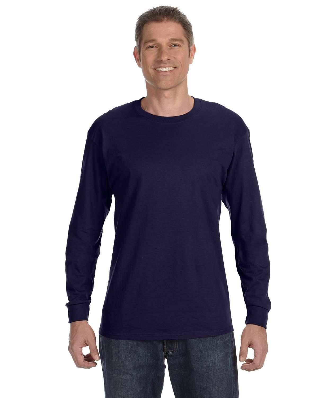 Jerzees Adult DRI-POWER® ACTIVE Long-Sleeve T-Shirt J NAVY