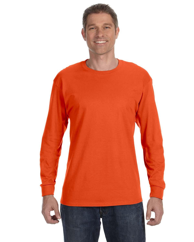 Jerzees Adult DRI-POWER® ACTIVE Long-Sleeve T-Shirt BURNT ORANGE
