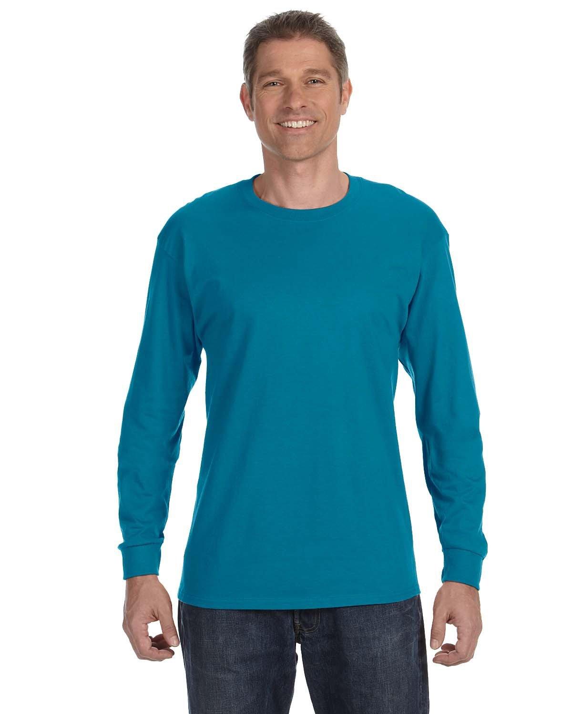 Jerzees Adult DRI-POWER® ACTIVE Long-Sleeve T-Shirt CALIFORNIA BLUE