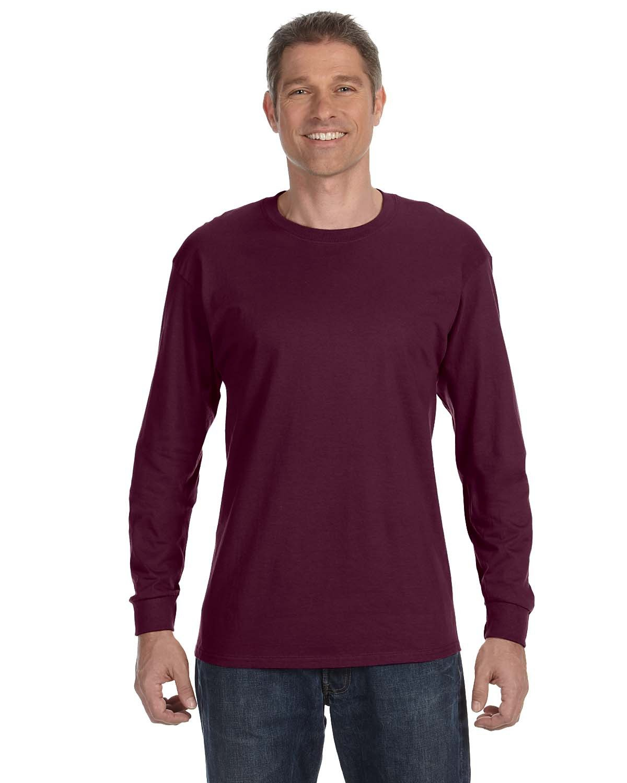Jerzees Adult DRI-POWER® ACTIVE Long-Sleeve T-Shirt MAROON