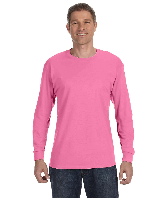 Jerzees Adult DRI-POWER® ACTIVE Long-Sleeve T-Shirt NEON PINK