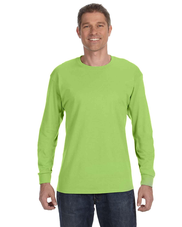 Jerzees Adult DRI-POWER® ACTIVE Long-Sleeve T-Shirt NEON GREEN