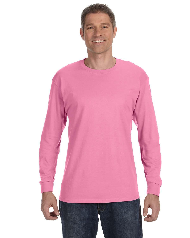 Jerzees Adult DRI-POWER® ACTIVE Long-Sleeve T-Shirt AZALEA