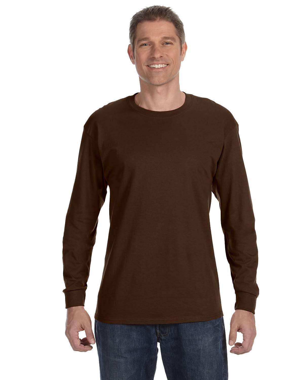 Jerzees Adult DRI-POWER® ACTIVE Long-Sleeve T-Shirt CHOCOLATE