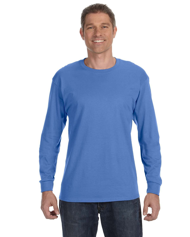 Jerzees Adult DRI-POWER® ACTIVE Long-Sleeve T-Shirt COLUMBIA BLUE