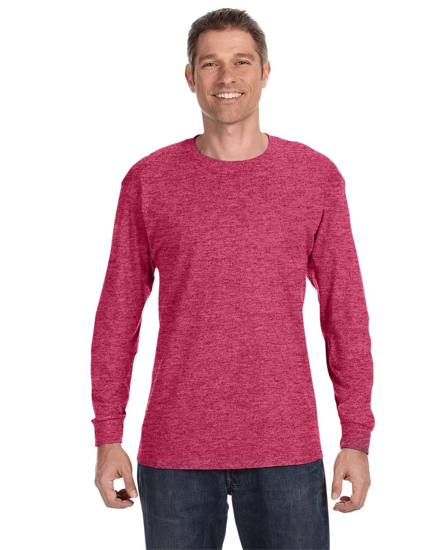 Jerzees Adult DRI-POWER® ACTIVE Long-Sleeve T-Shirt VINT HTHR RED