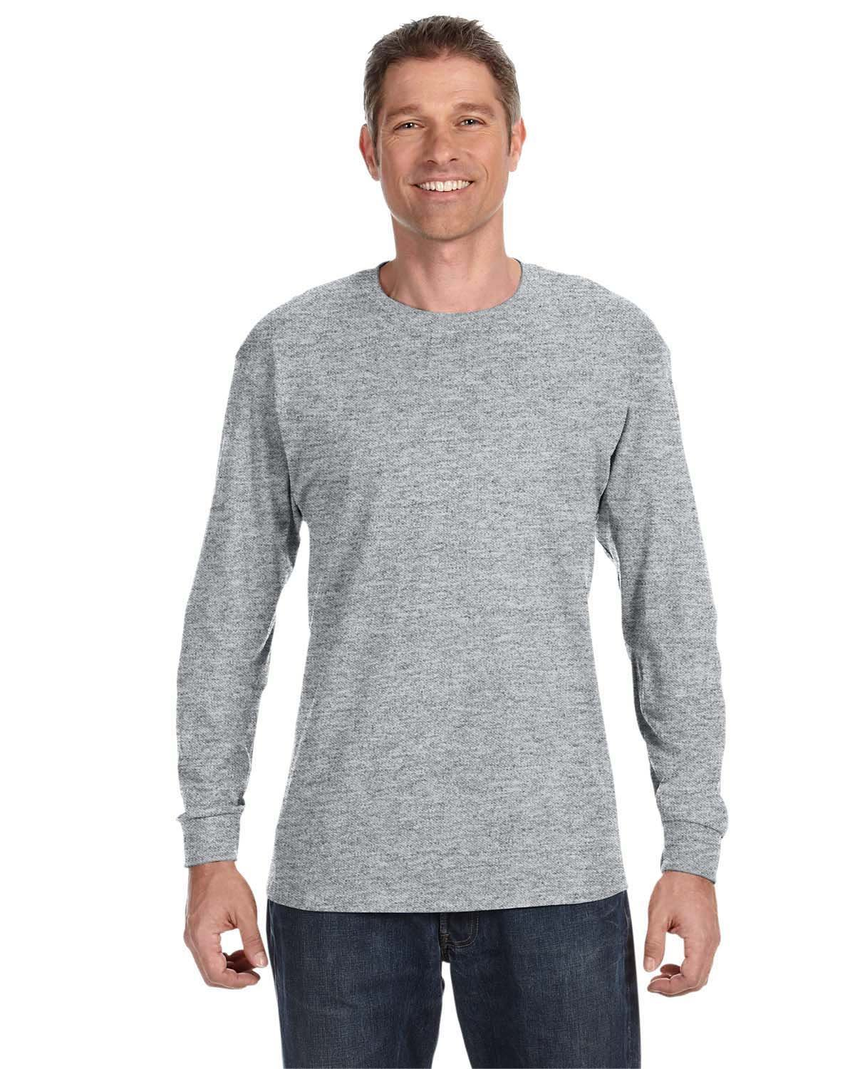 Jerzees Adult DRI-POWER® ACTIVE Long-Sleeve T-Shirt ATHLETIC HEATHER