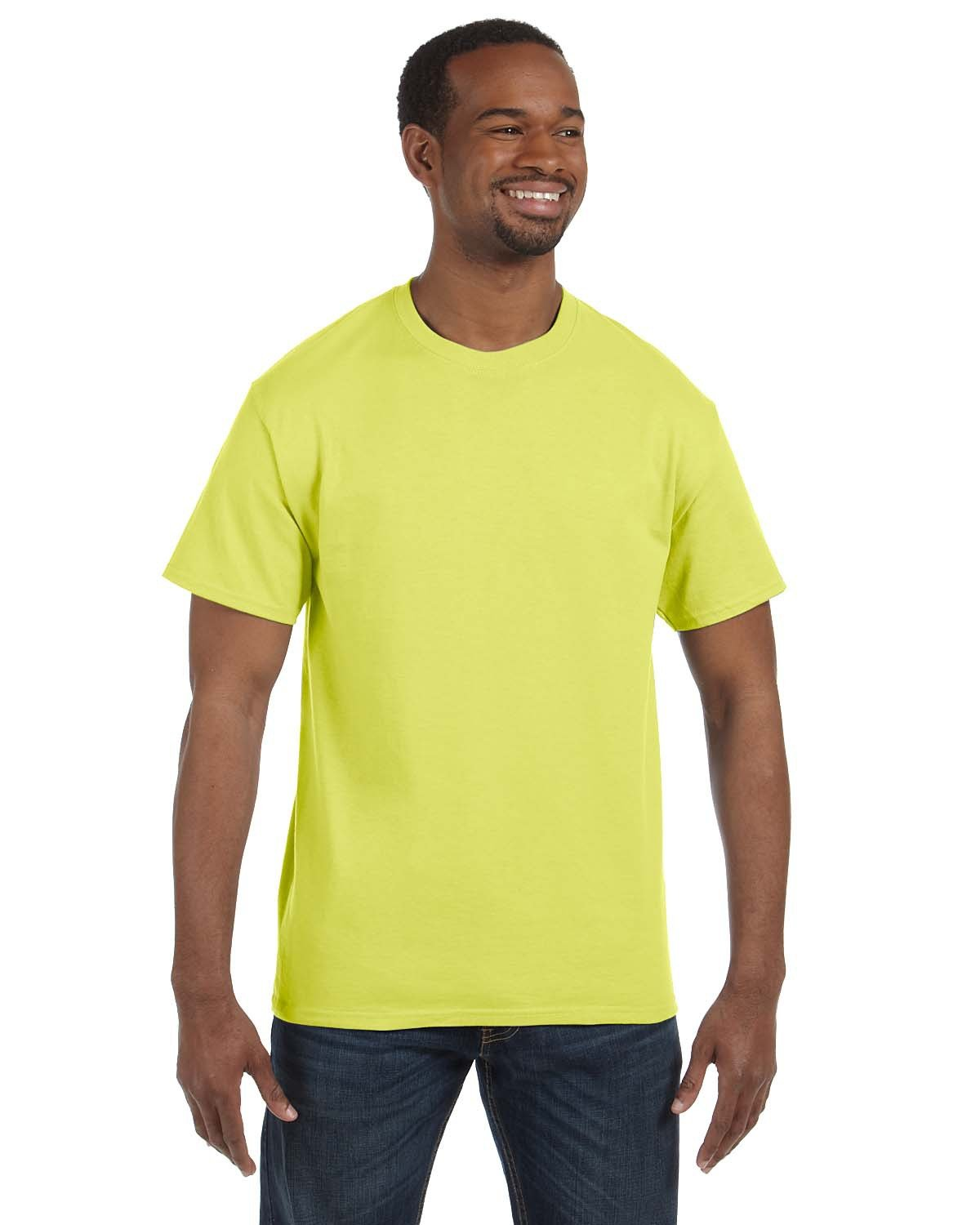 Jerzees Adult DRI-POWER® ACTIVE T-Shirt SAFETY GREEN