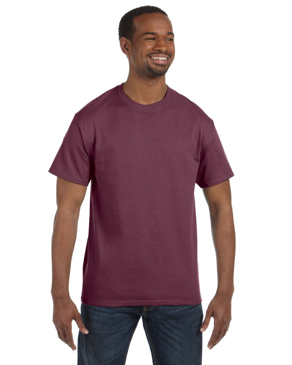 Jerzees Adult DRI-POWER® ACTIVE T-Shirt VINT HTH MAROON