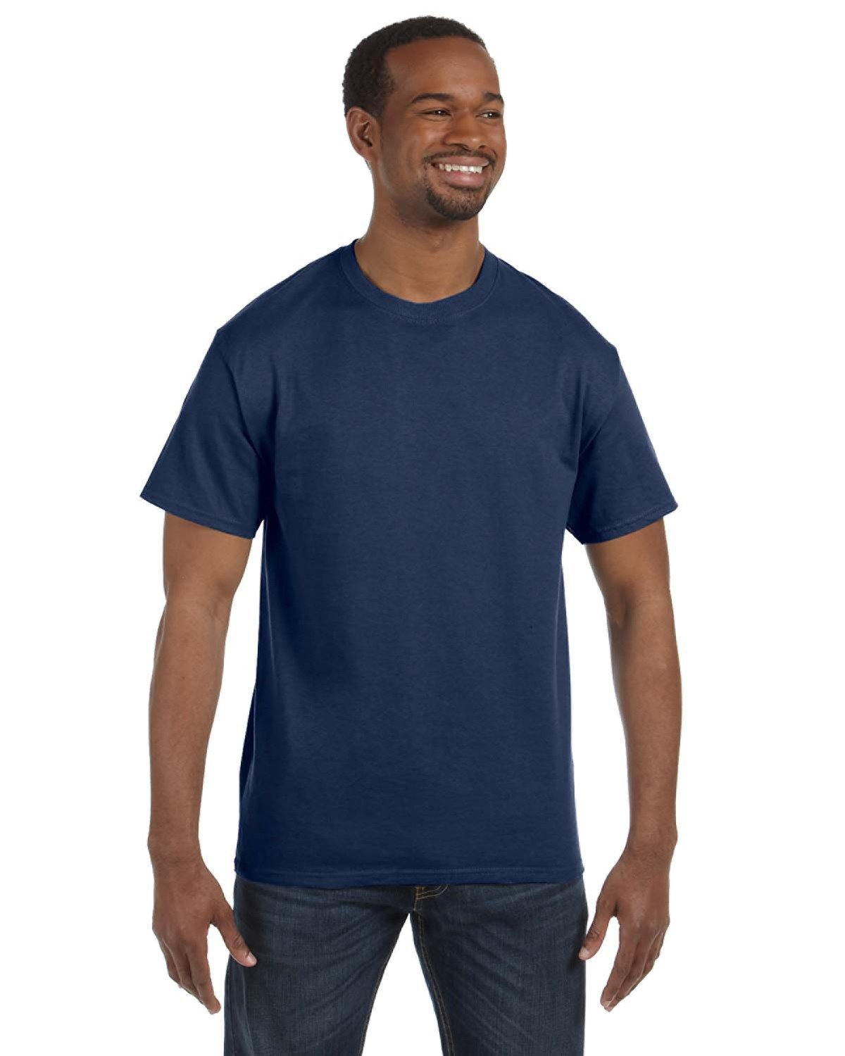 Jerzees Adult DRI-POWER® ACTIVE T-Shirt VINTAGE HTH NAVY