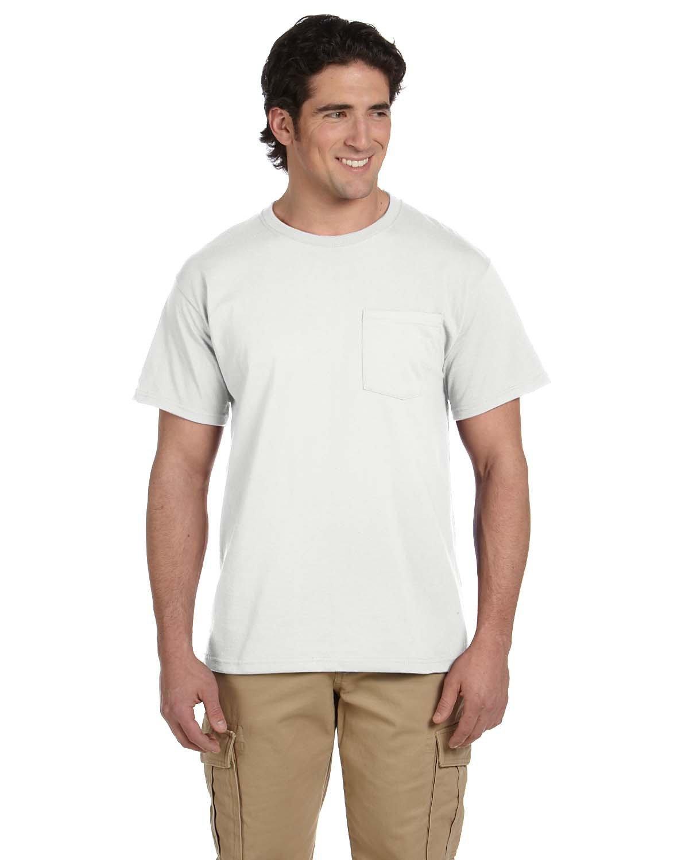 Jerzees Adult DRI-POWER® ACTIVE Pocket T-Shirt WHITE